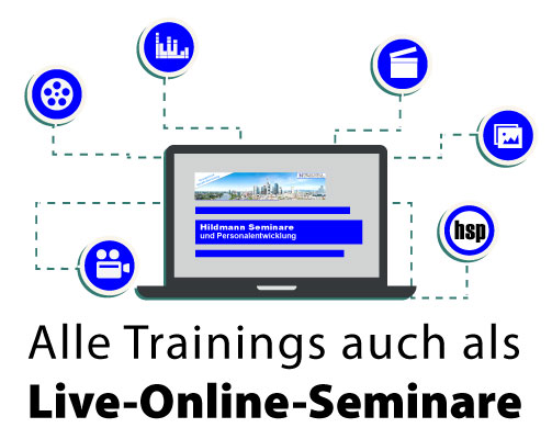 Alle Trainings auch als Live-Online-Seminare